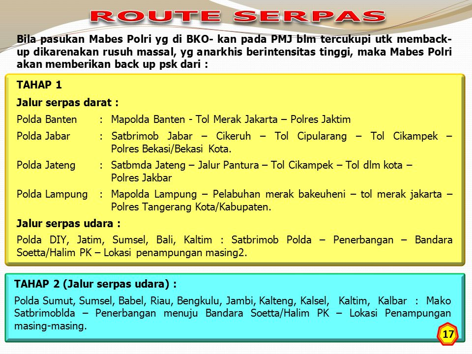 ROUTE SERPAS