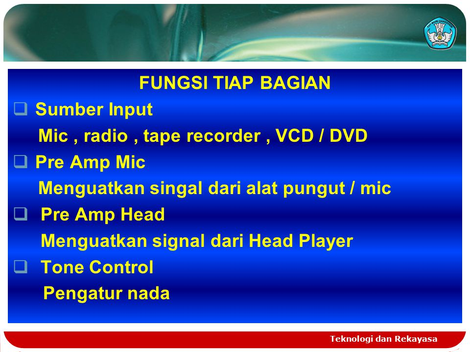 Mic , radio , tape recorder , VCD / DVD Pre Amp Mic