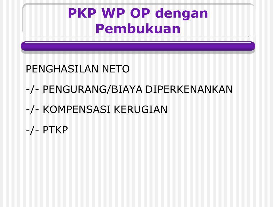 PKP WP OP dengan Pembukuan