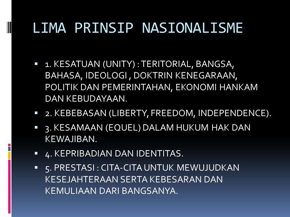 LIMA PRINSIP NASIONALISME