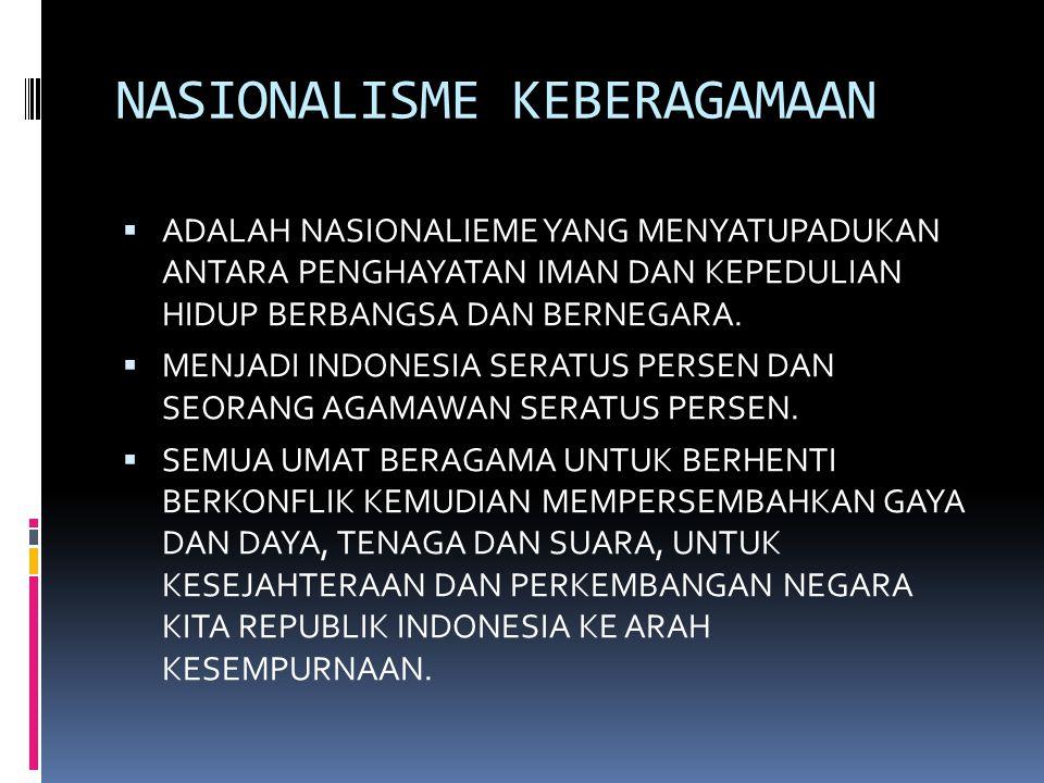 NASIONALISME KEBERAGAMAAN