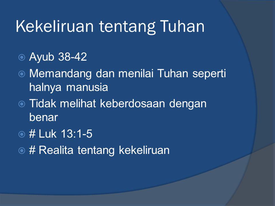 Kekeliruan tentang Tuhan