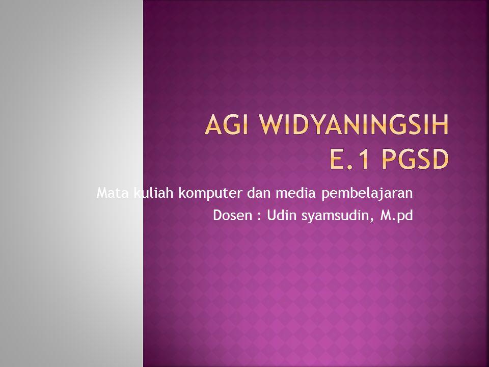 Agi widyaningsih E.1 PGSD