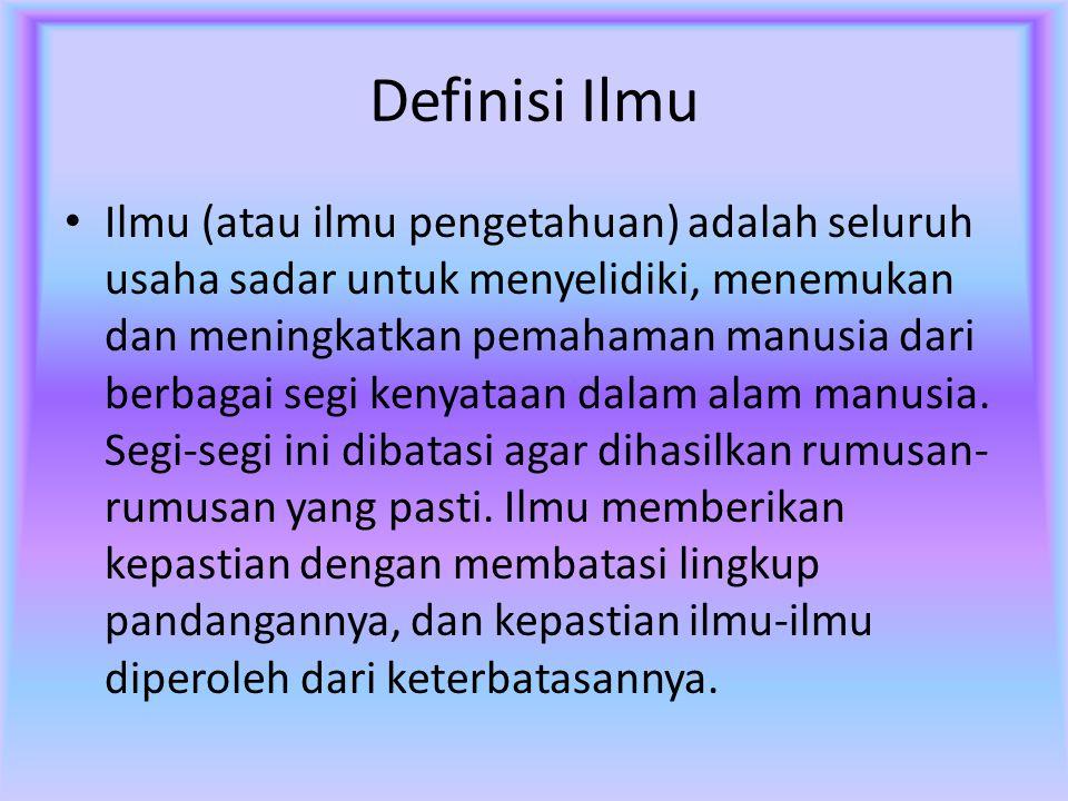 Definisi Ilmu