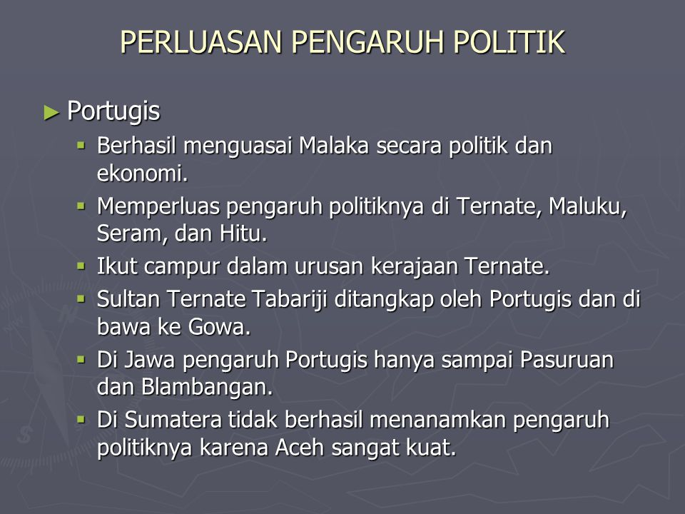 PERLUASAN PENGARUH POLITIK