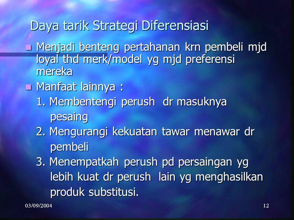 Daya tarik Strategi Diferensiasi
