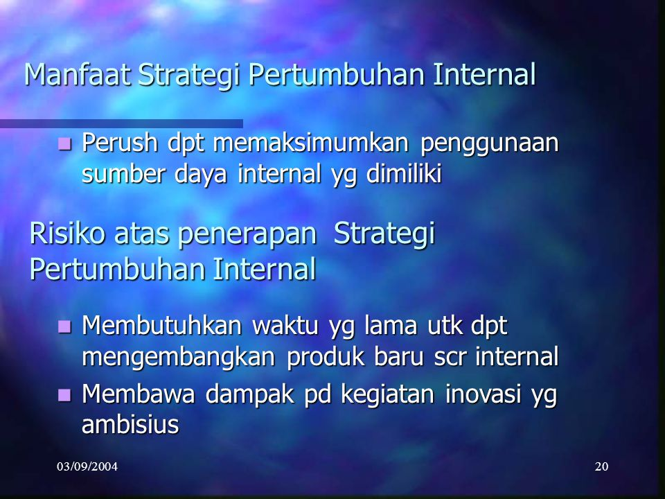 Manfaat Strategi Pertumbuhan Internal