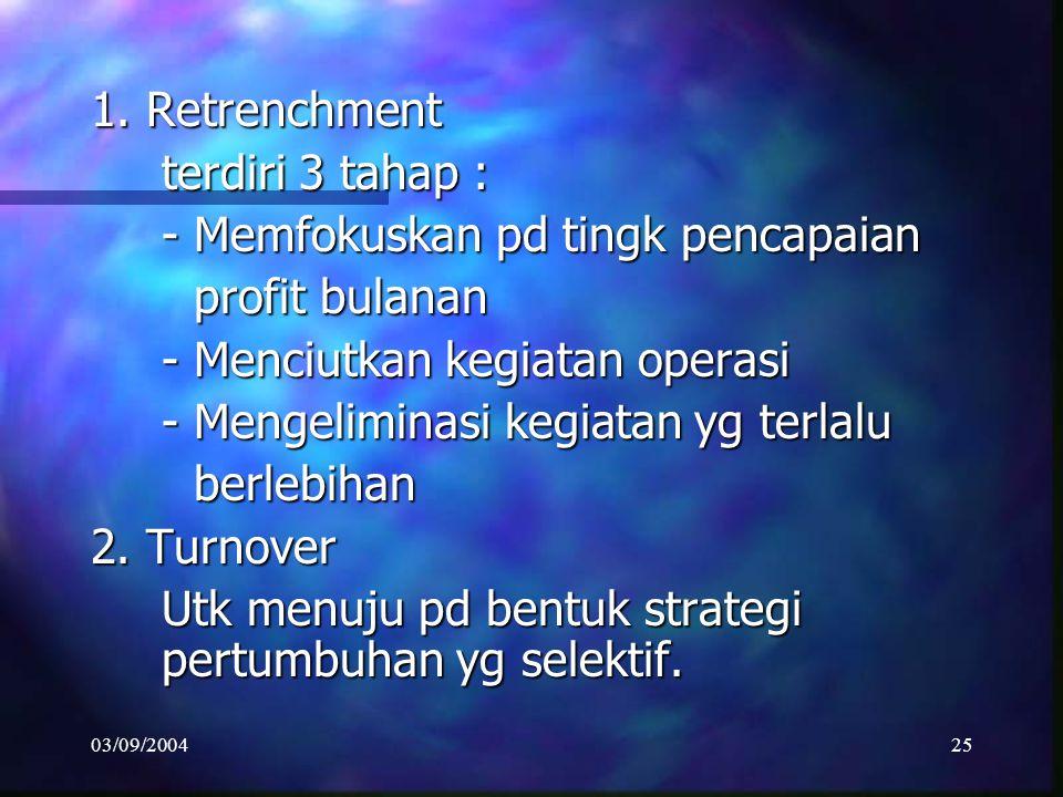 - Memfokuskan pd tingk pencapaian profit bulanan