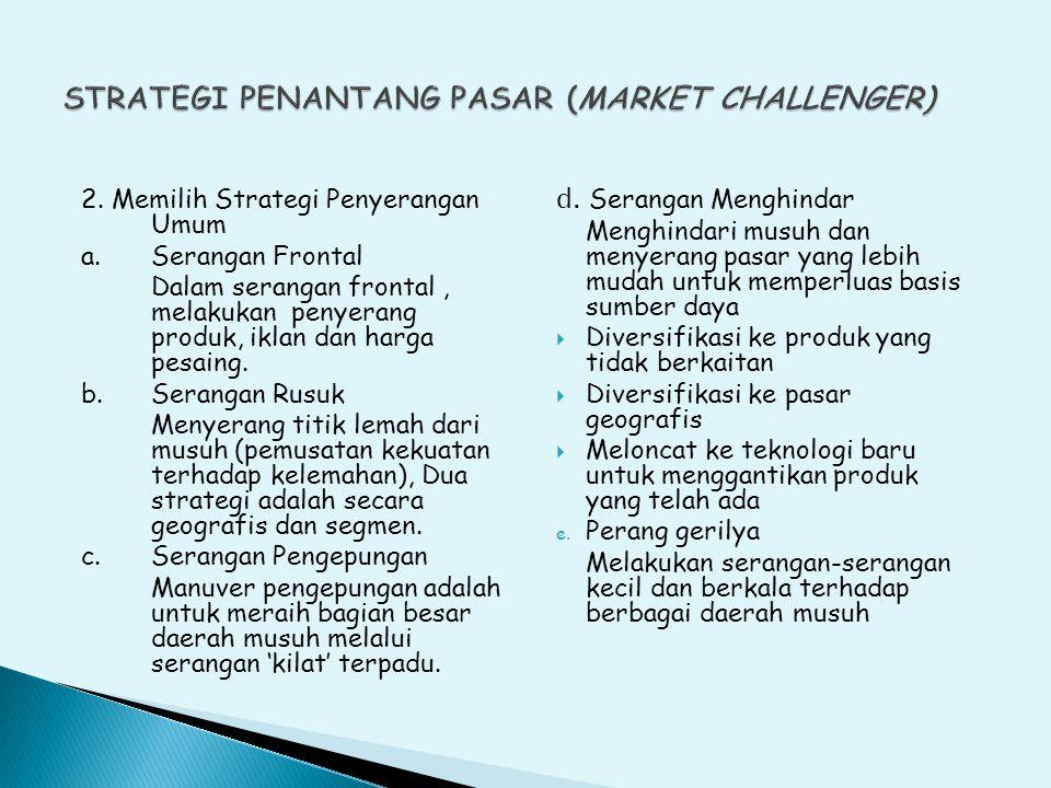 STRATEGI PENANTANG PASAR (MARKET CHALLENGER)