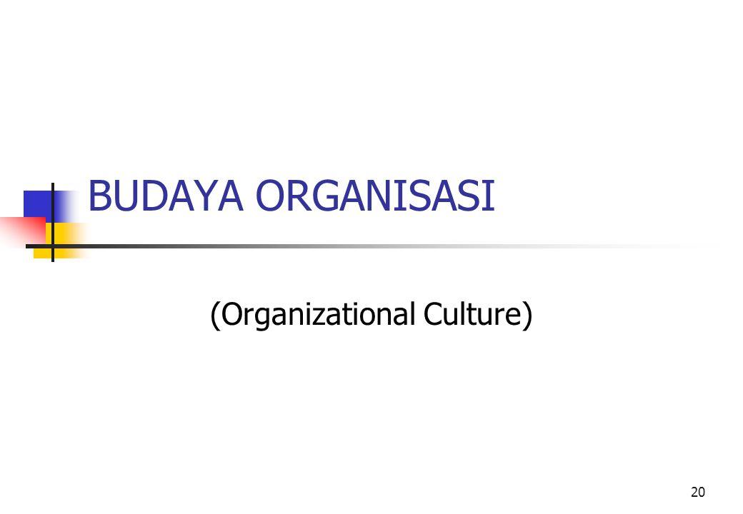 (Organizational Culture)