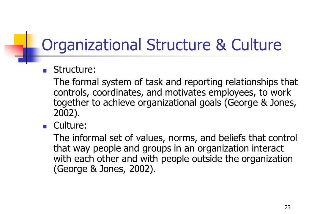 Organizational Structure & Culture