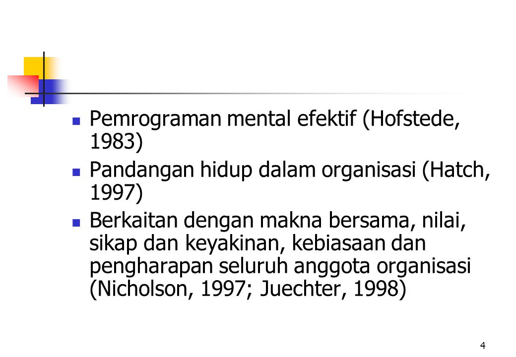 Pemrograman mental efektif (Hofstede, 1983)