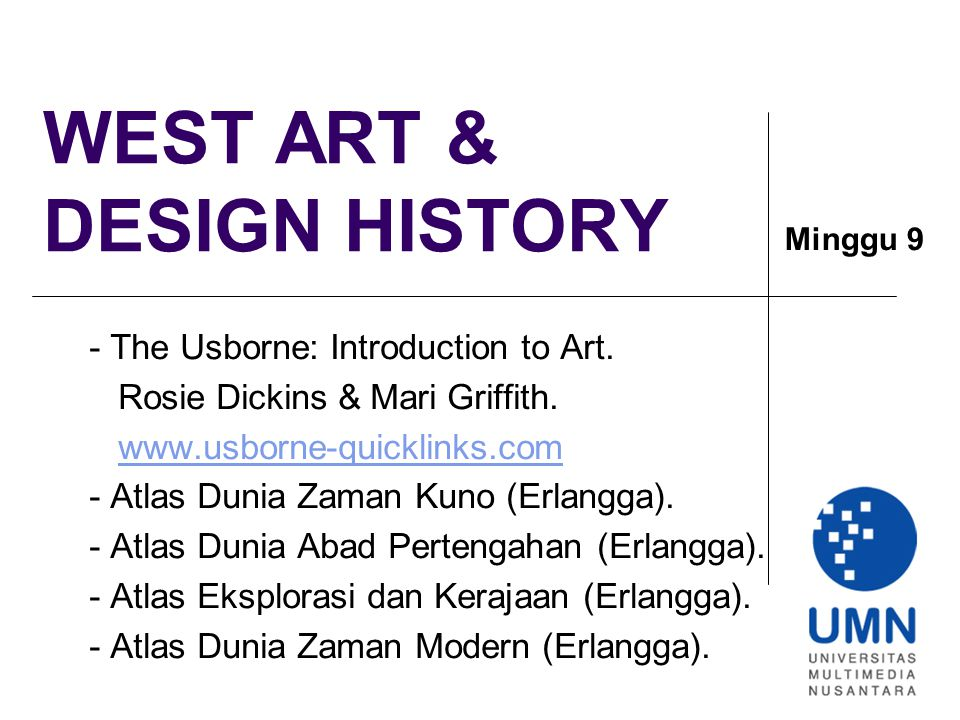 WEST ART & DESIGN HISTORY
