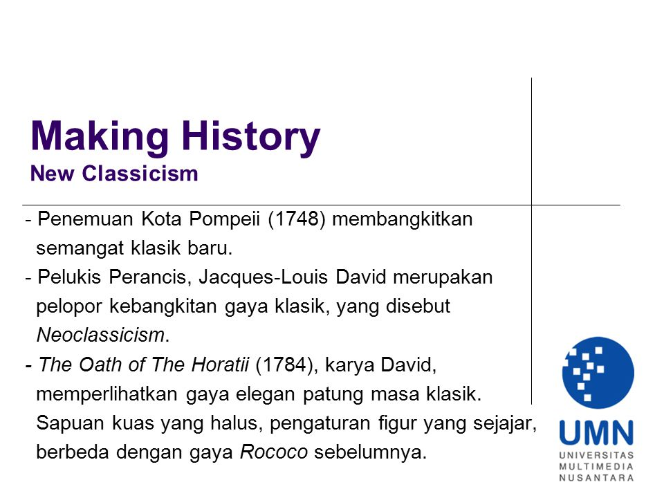Making History New Classicism