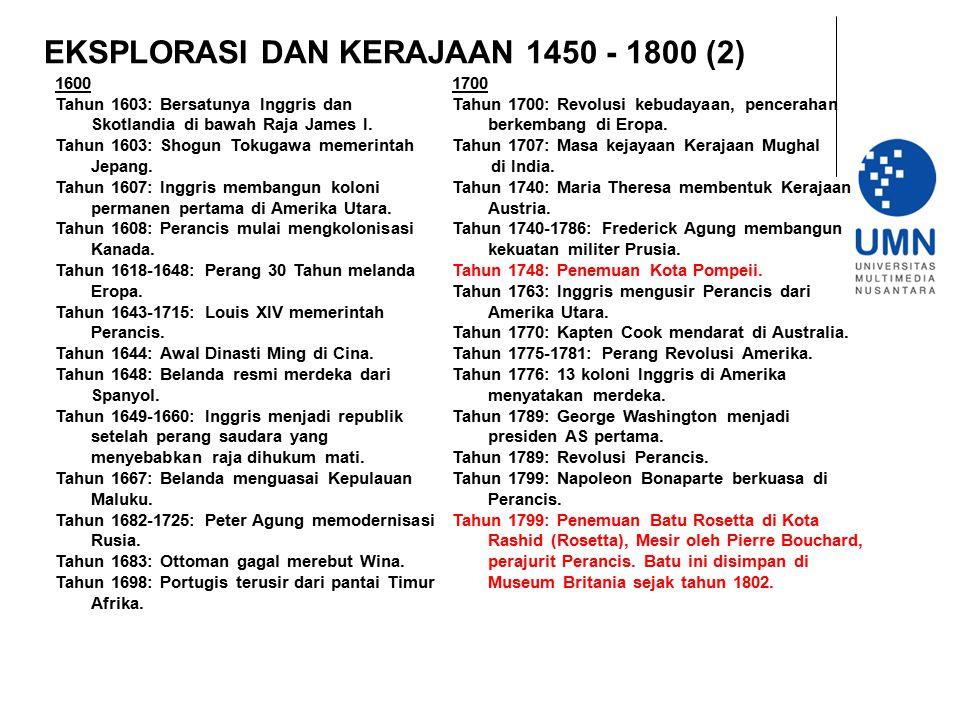 EKSPLORASI DAN KERAJAAN 1450 - 1800 (2)