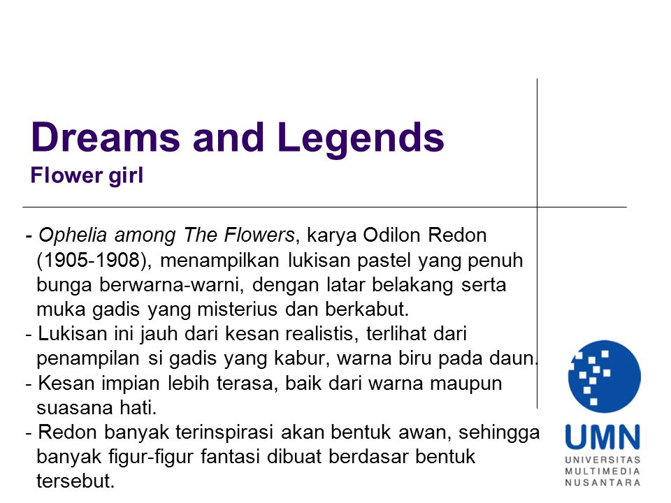 Dreams and Legends Flower girl