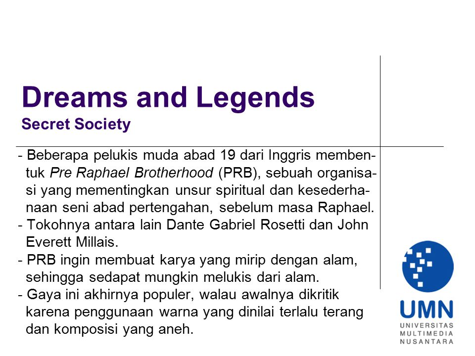 Dreams and Legends Secret Society