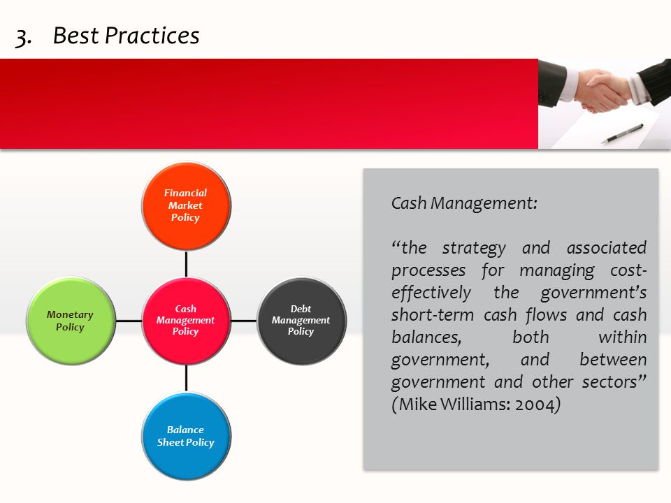 Cash Management Policy Financial Market Policy Debt Management Policy