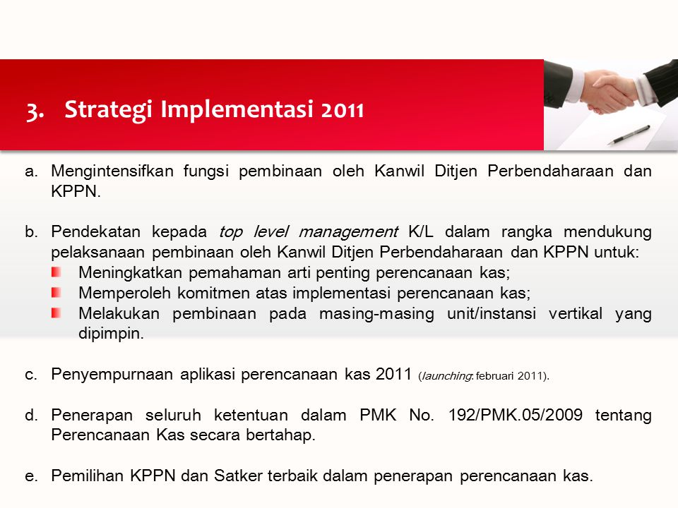 Strategi Implementasi 2011