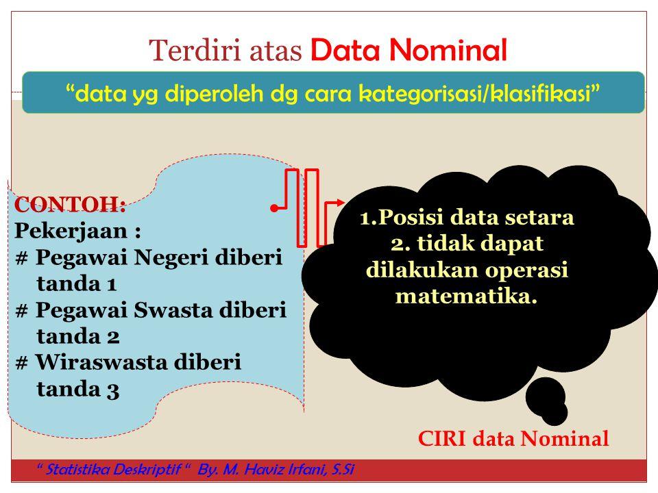 Terdiri atas Data Nominal