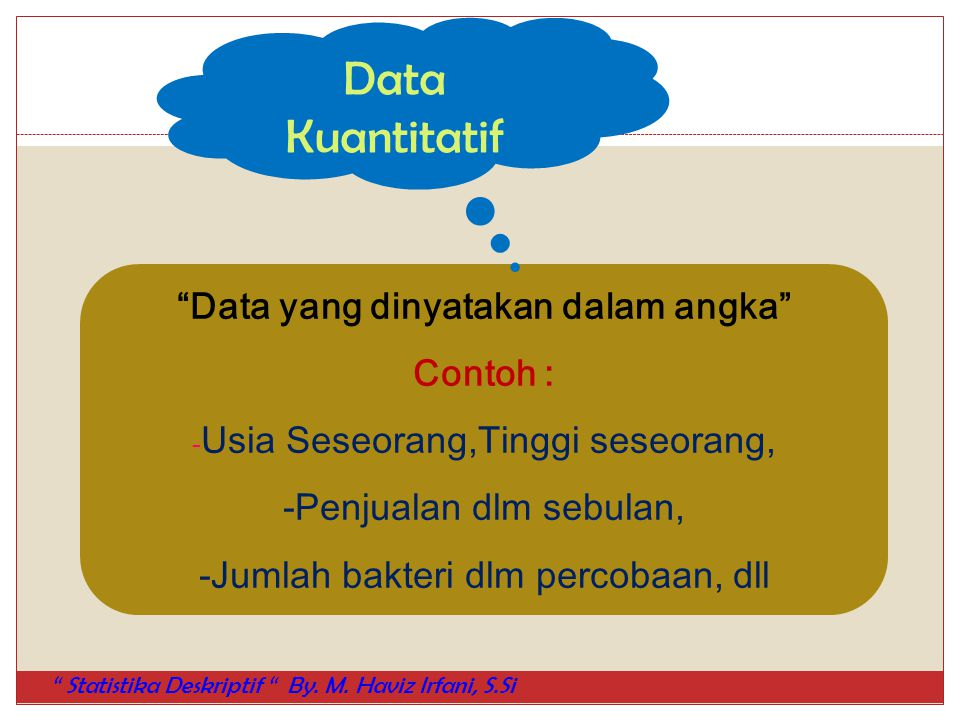Data yang dinyatakan dalam angka
