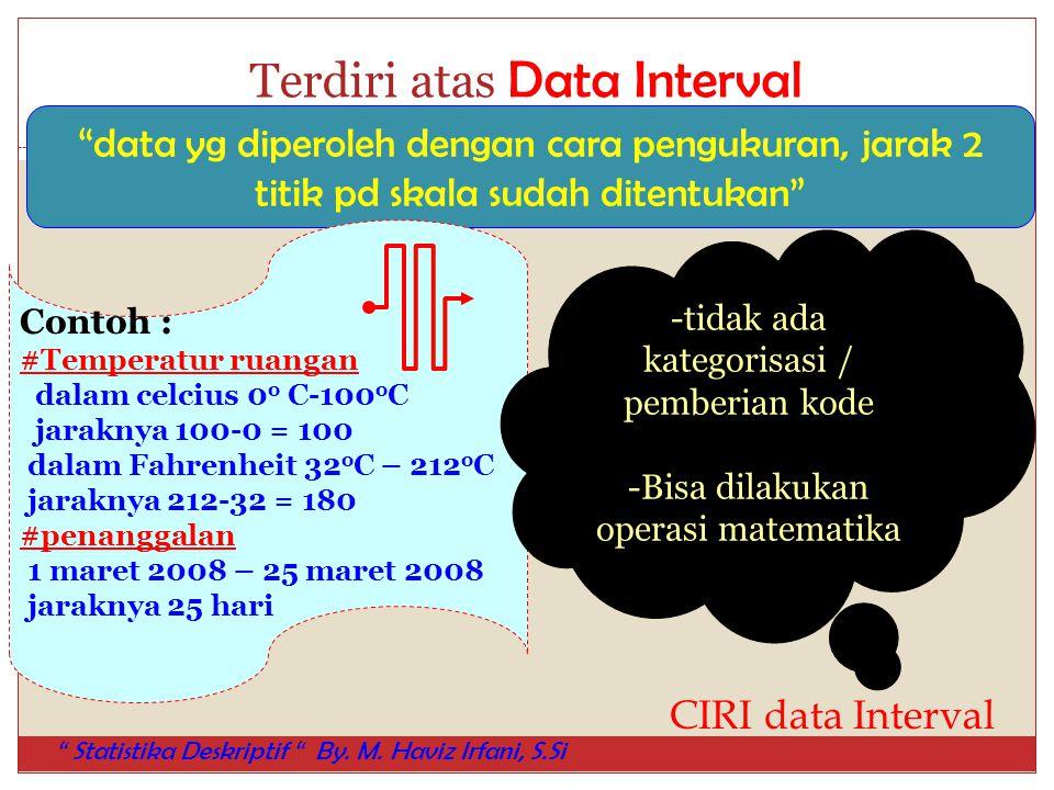 Terdiri atas Data Interval