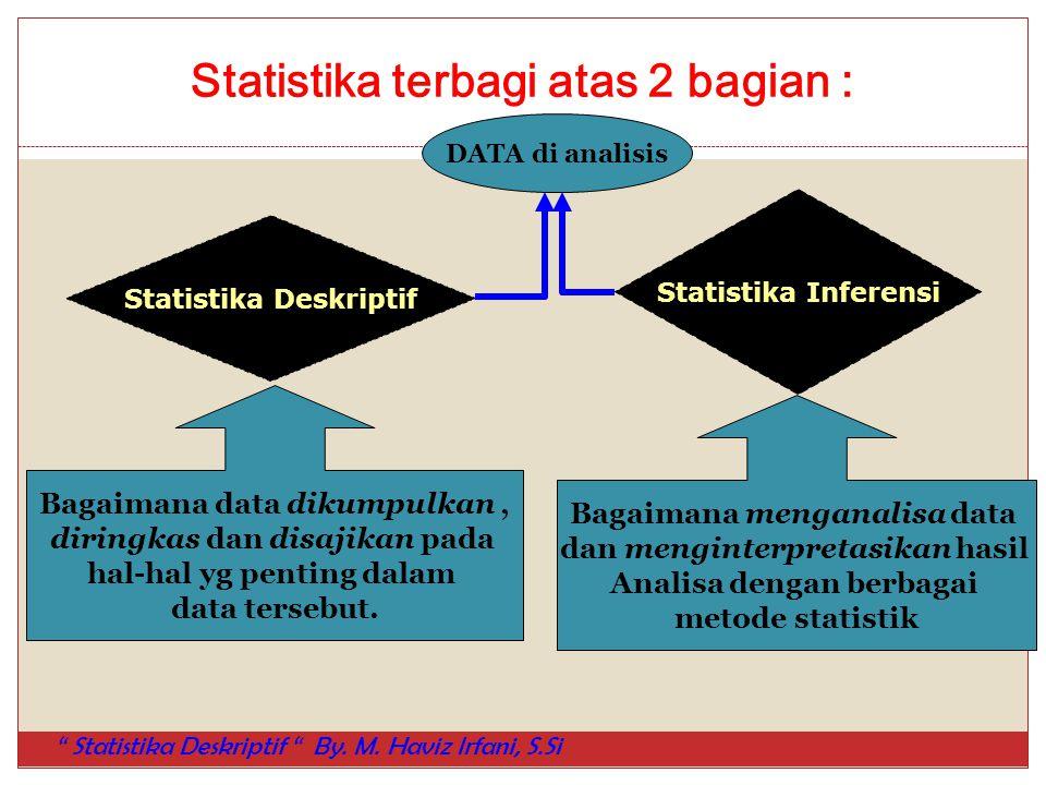 Statistika terbagi atas 2 bagian :