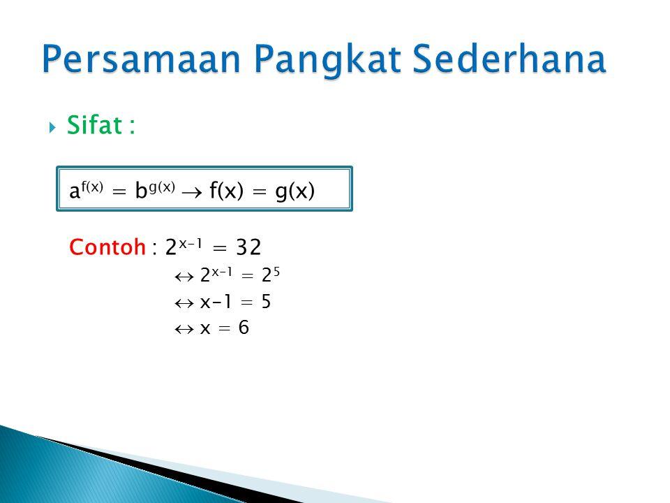 Persamaan Pangkat Sederhana