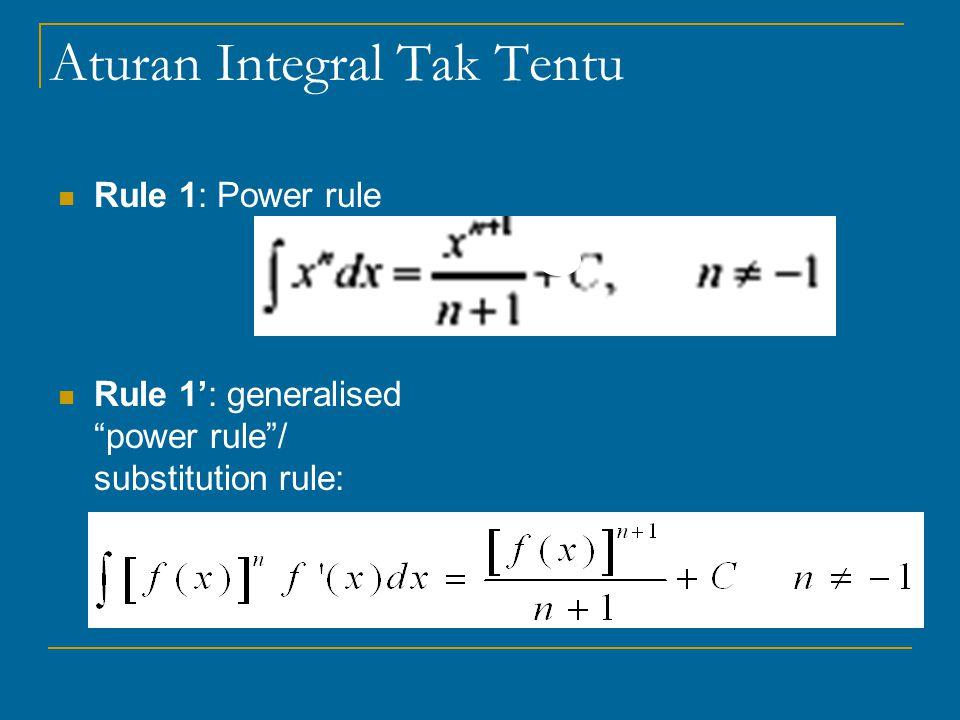 Aturan Integral Tak Tentu