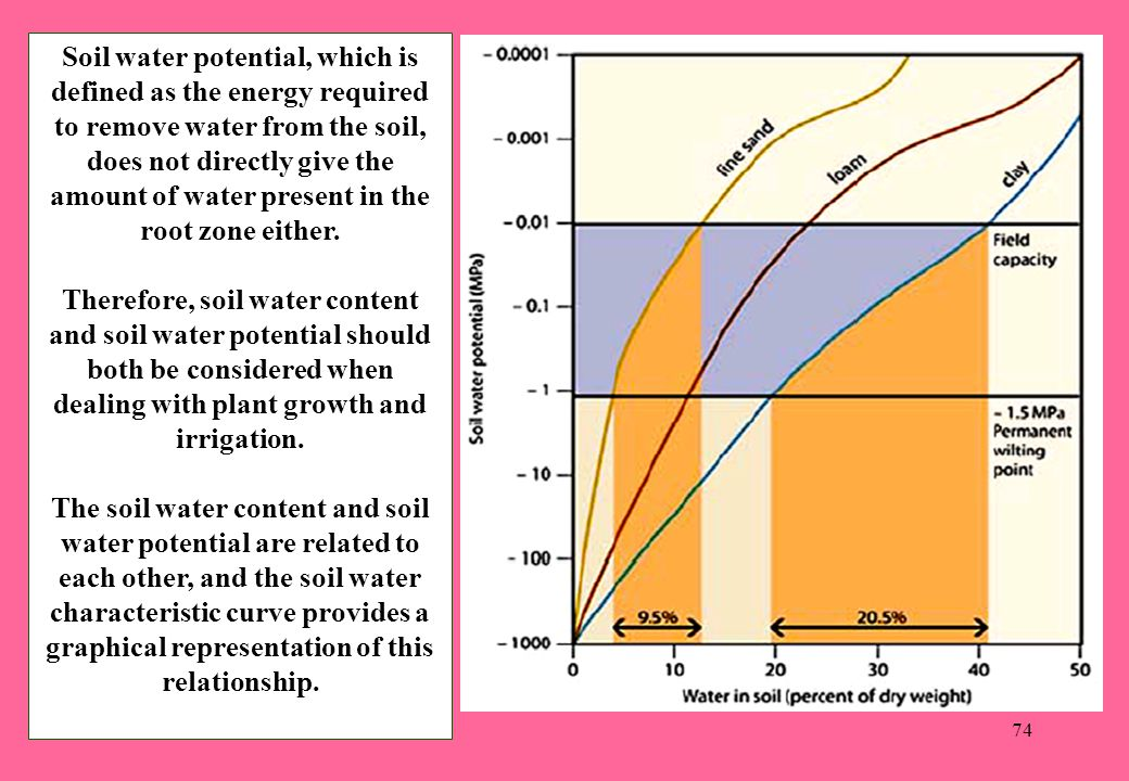 Soil water potential, which is defined as the energy required to remove water from the soil, does not directly give the amount of water present in the root zone either.