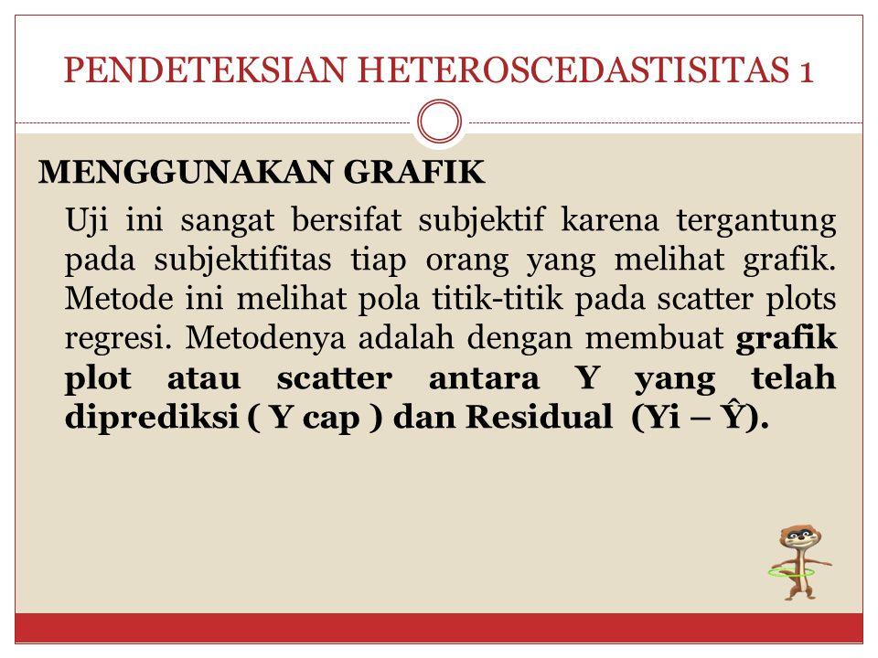 PENDETEKSIAN HETEROSCEDASTISITAS 1