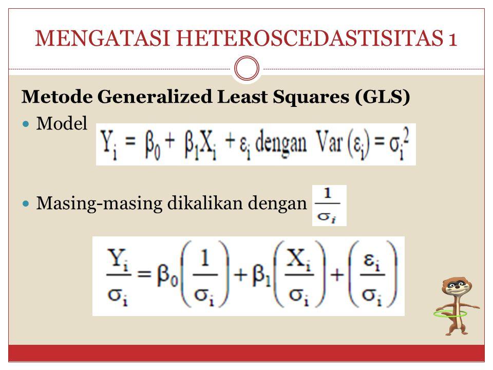 MENGATASI HETEROSCEDASTISITAS 1