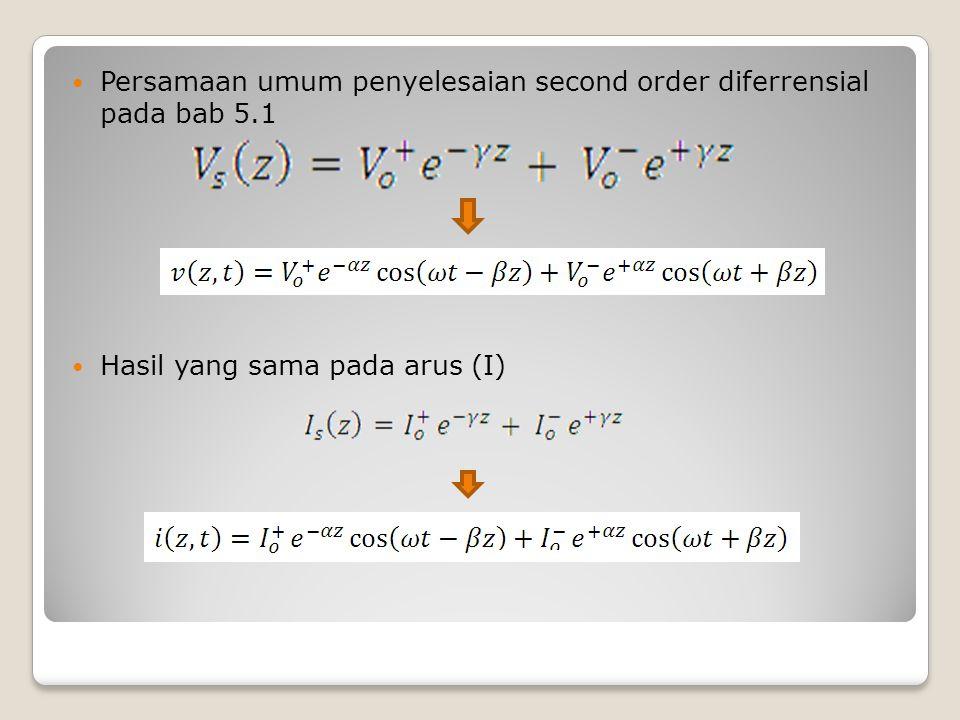 Persamaan umum penyelesaian second order diferrensial pada bab 5.1