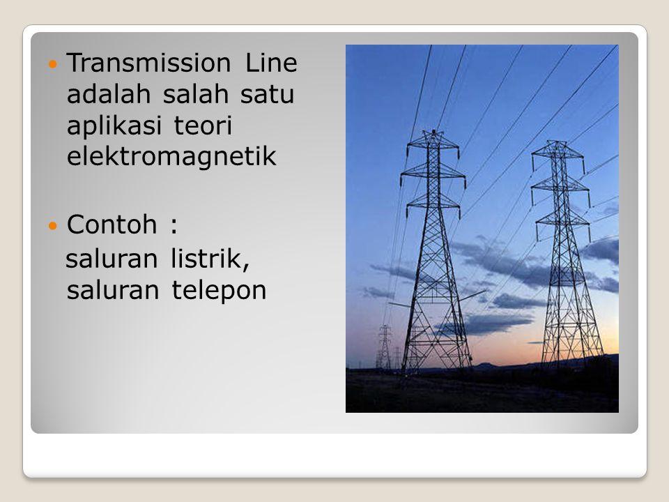 Transmission Line adalah salah satu aplikasi teori elektromagnetik