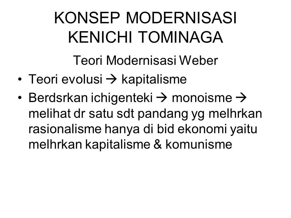KONSEP MODERNISASI KENICHI TOMINAGA