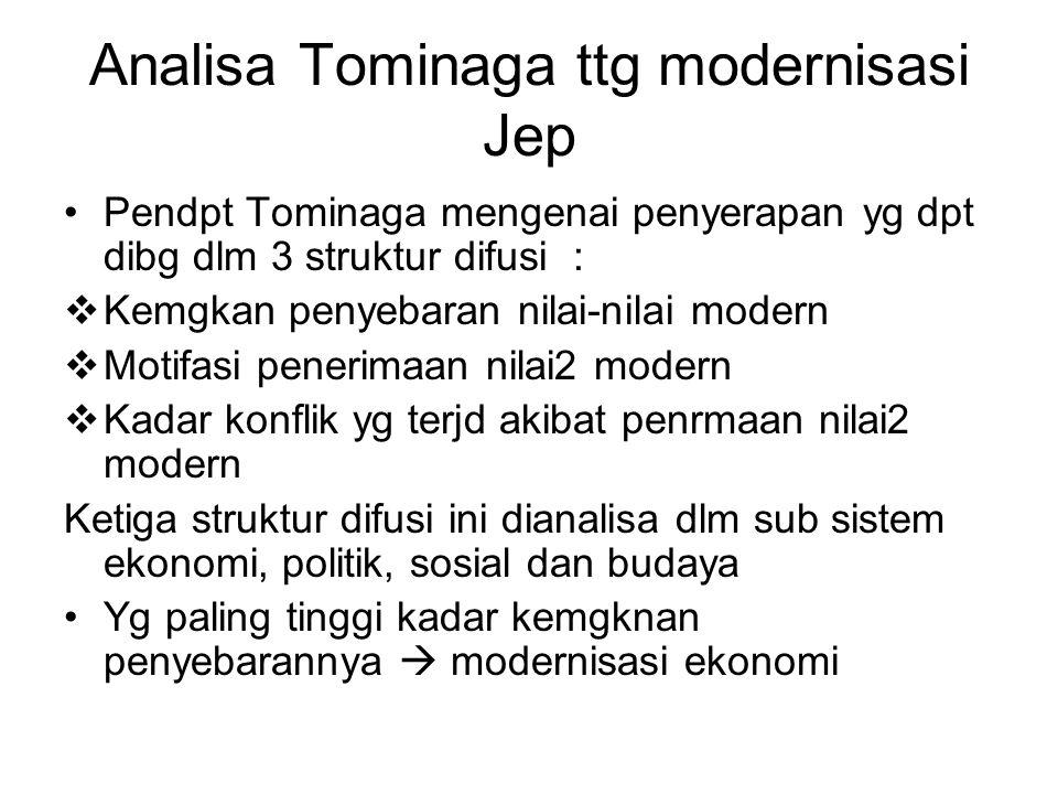 Analisa Tominaga ttg modernisasi Jep