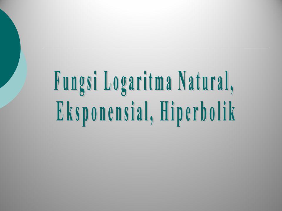 Fungsi Logaritma Natural, Eksponensial, Hiperbolik