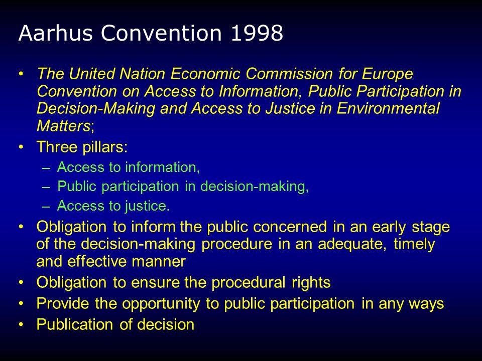 Aarhus Convention 1998