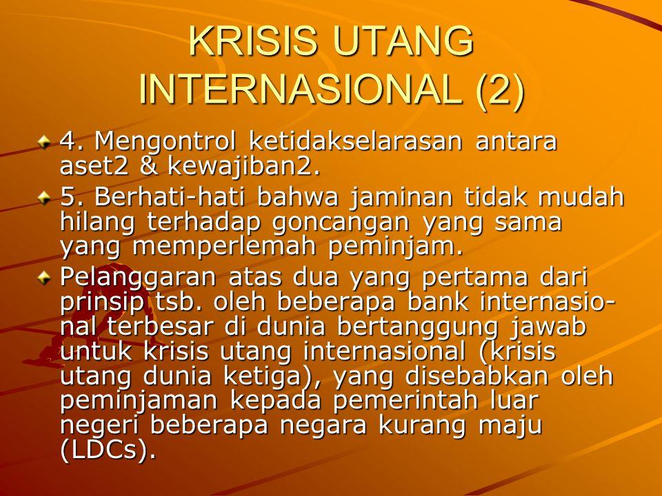KRISIS UTANG INTERNASIONAL (2)