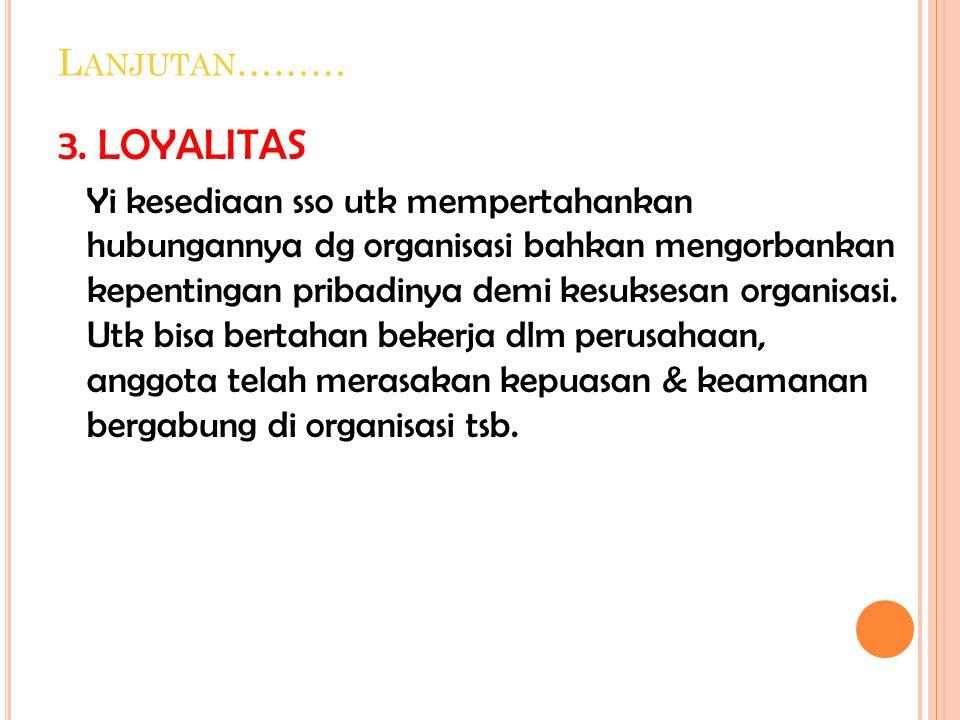 3. LOYALITAS Lanjutan………