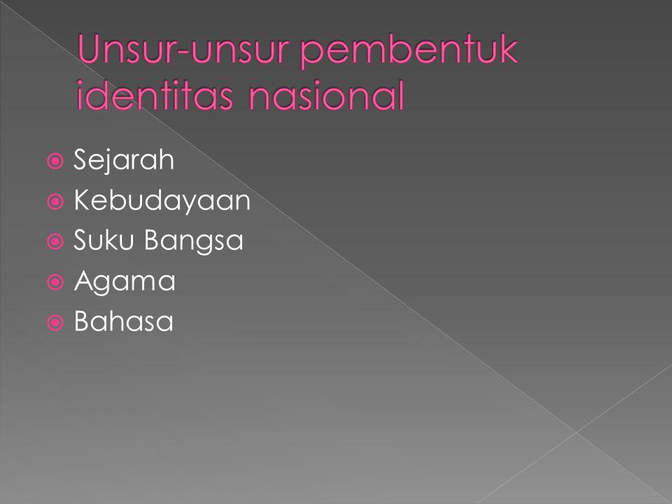 Unsur-unsur pembentuk identitas nasional