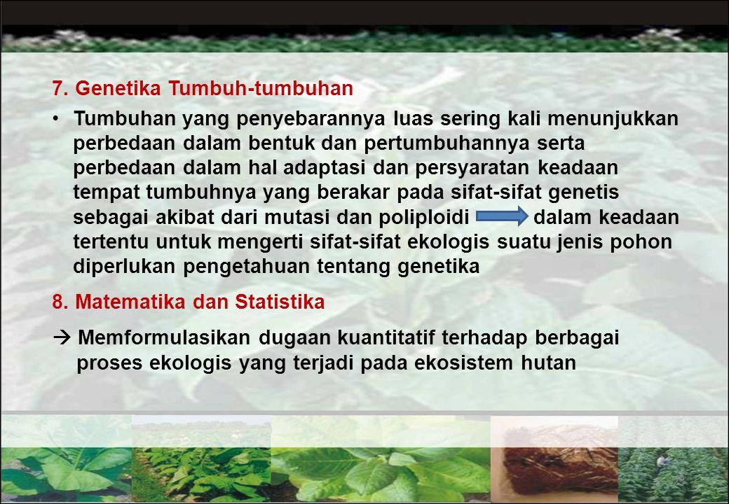 7. Genetika Tumbuh-tumbuhan