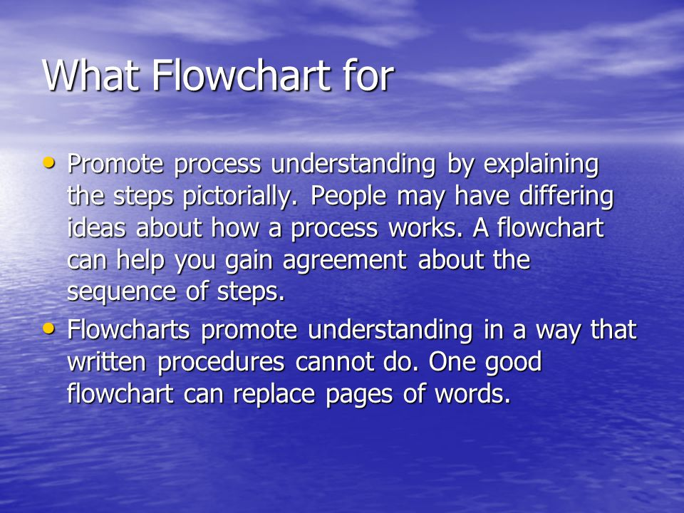 What Flowchart for