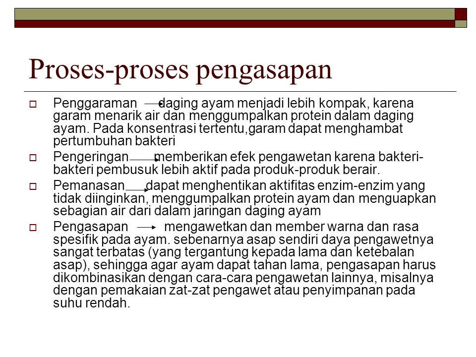 Proses-proses pengasapan