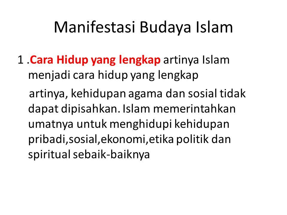 Manifestasi Budaya Islam
