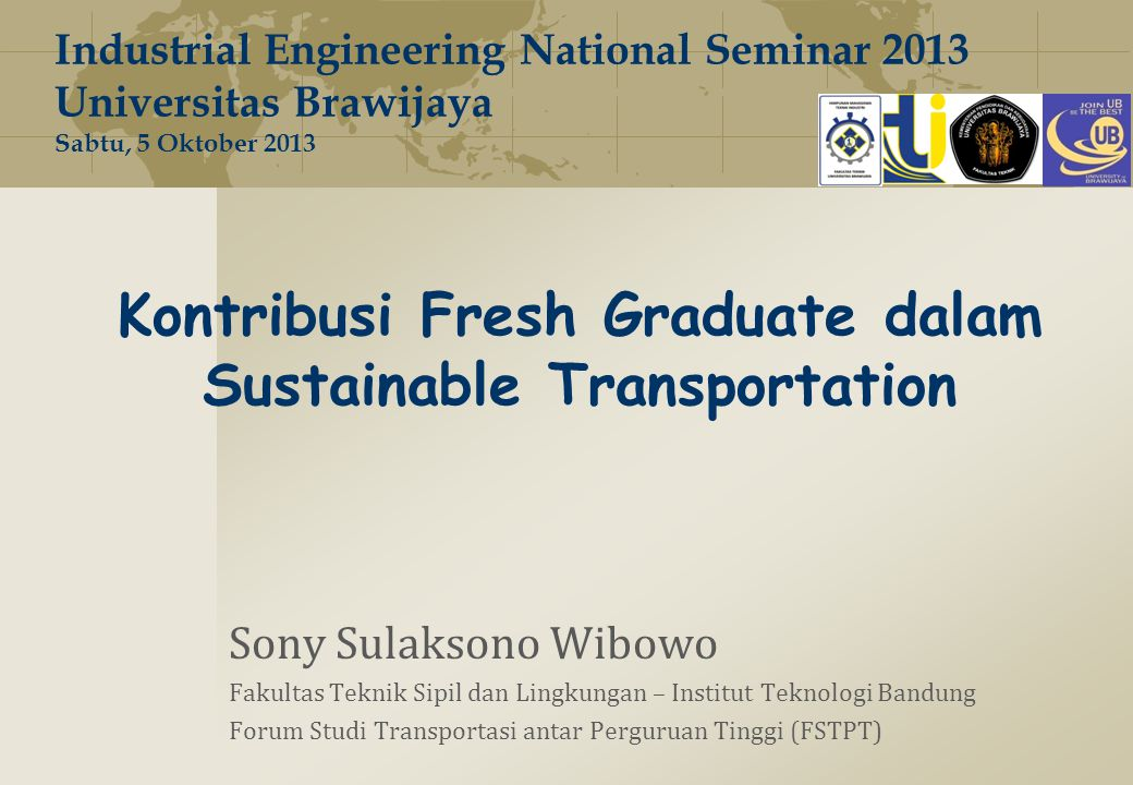 Kontribusi Fresh Graduate dalam Sustainable Transportation
