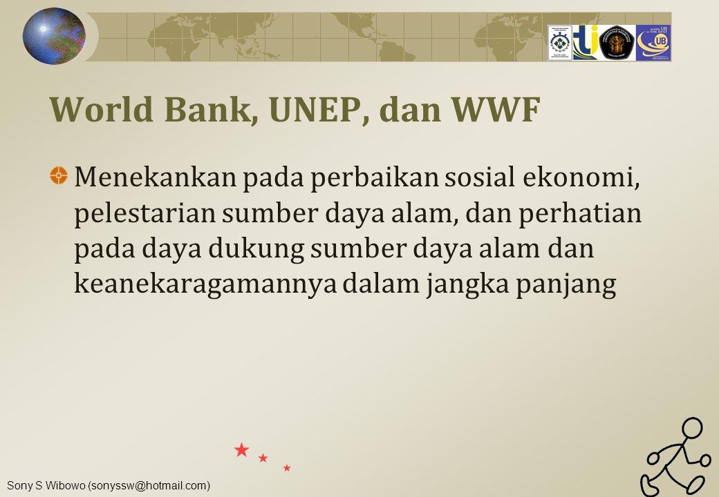 World Bank, UNEP, dan WWF