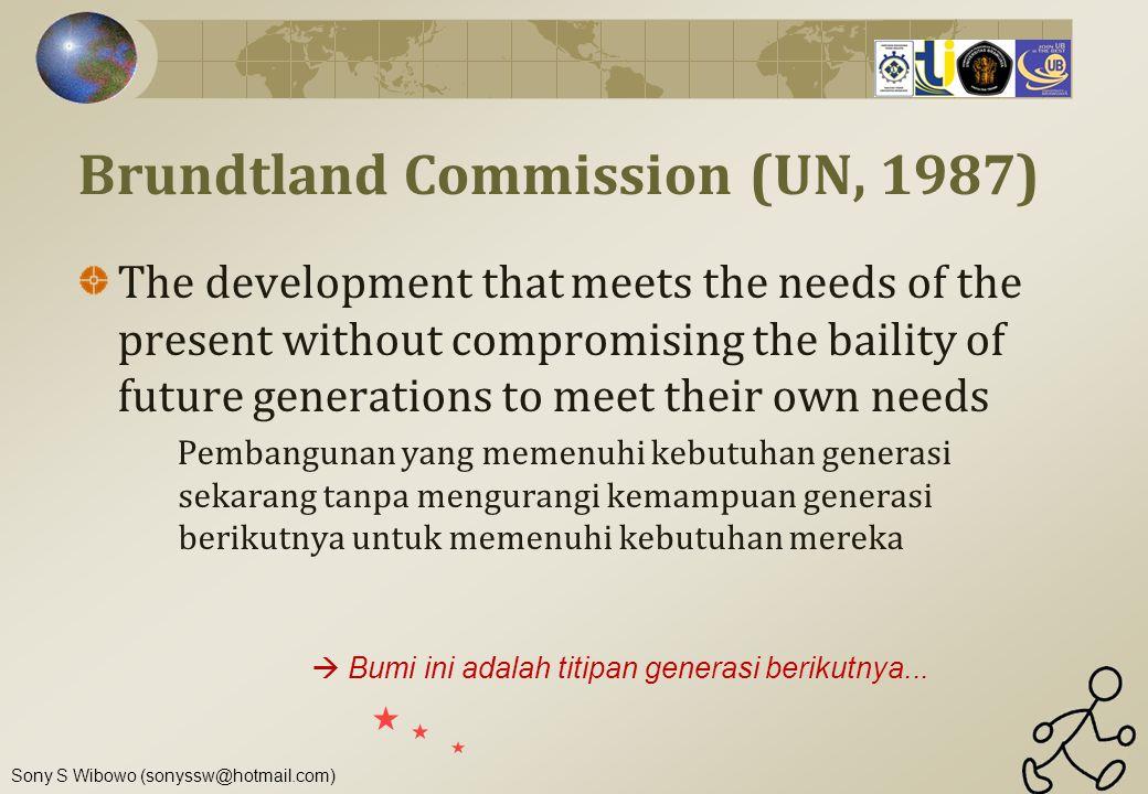 Brundtland Commission (UN, 1987)