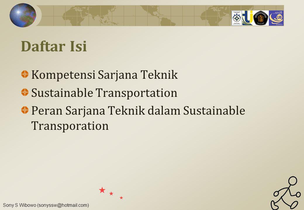 Daftar Isi Kompetensi Sarjana Teknik Sustainable Transportation