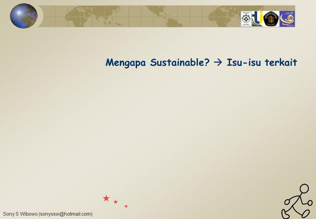 Mengapa Sustainable  Isu-isu terkait
